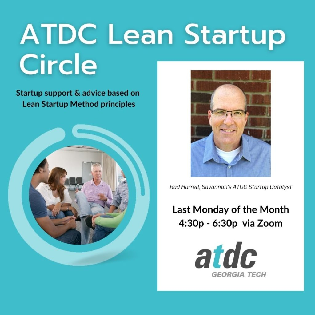 The ATDC Lean Startup Circle takes place on the last Monday of every month at 4:30pm.
