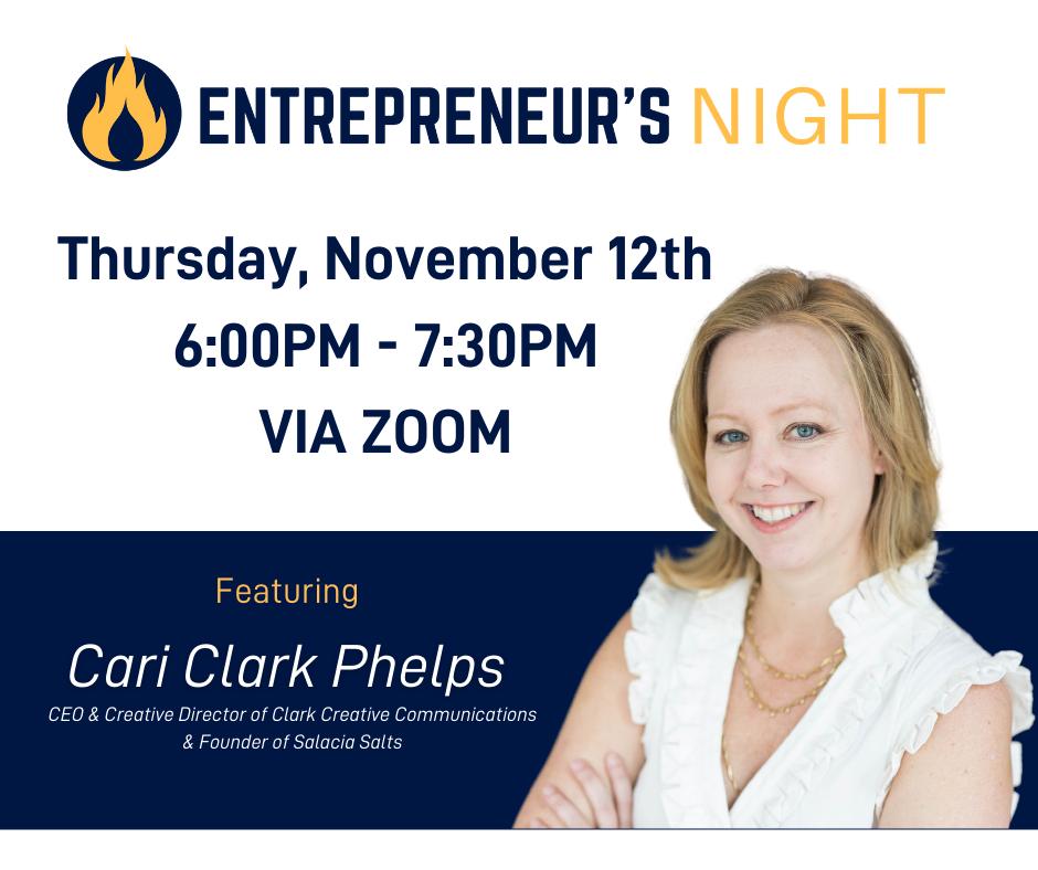 Event on Website - Entrepreneur's Night ft. Cari Clark Phelps