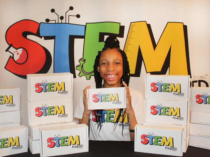 Alaina Davis is the 11-year old owner of STEM Powered Kits.