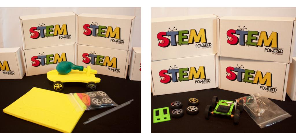 STEM Powered Kits - Balloon Powered Race Car and Solar Powered Race Car
