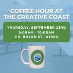 Creative Coast Coffee Hour - September 23rd @ 9am