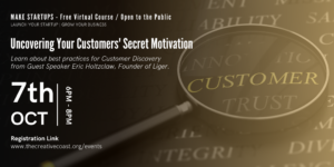 Graphic for Uncovering Your Customers' Secret Motivation ft. Guest Speaker Eric Holtzclaw - author, podcaster, Inc. Magazine columnist and founder of Liger, a full service marketing firm.